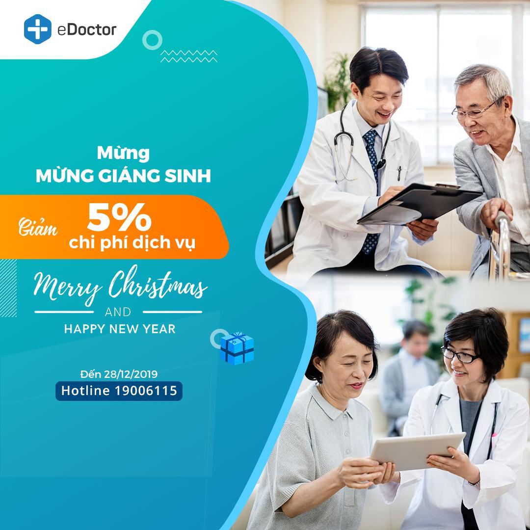 eDoctor - Mừng Giáng sinh và chào đón năm mới 2020: eDoctor gửi tặng bạn ưu đãi từ 5%