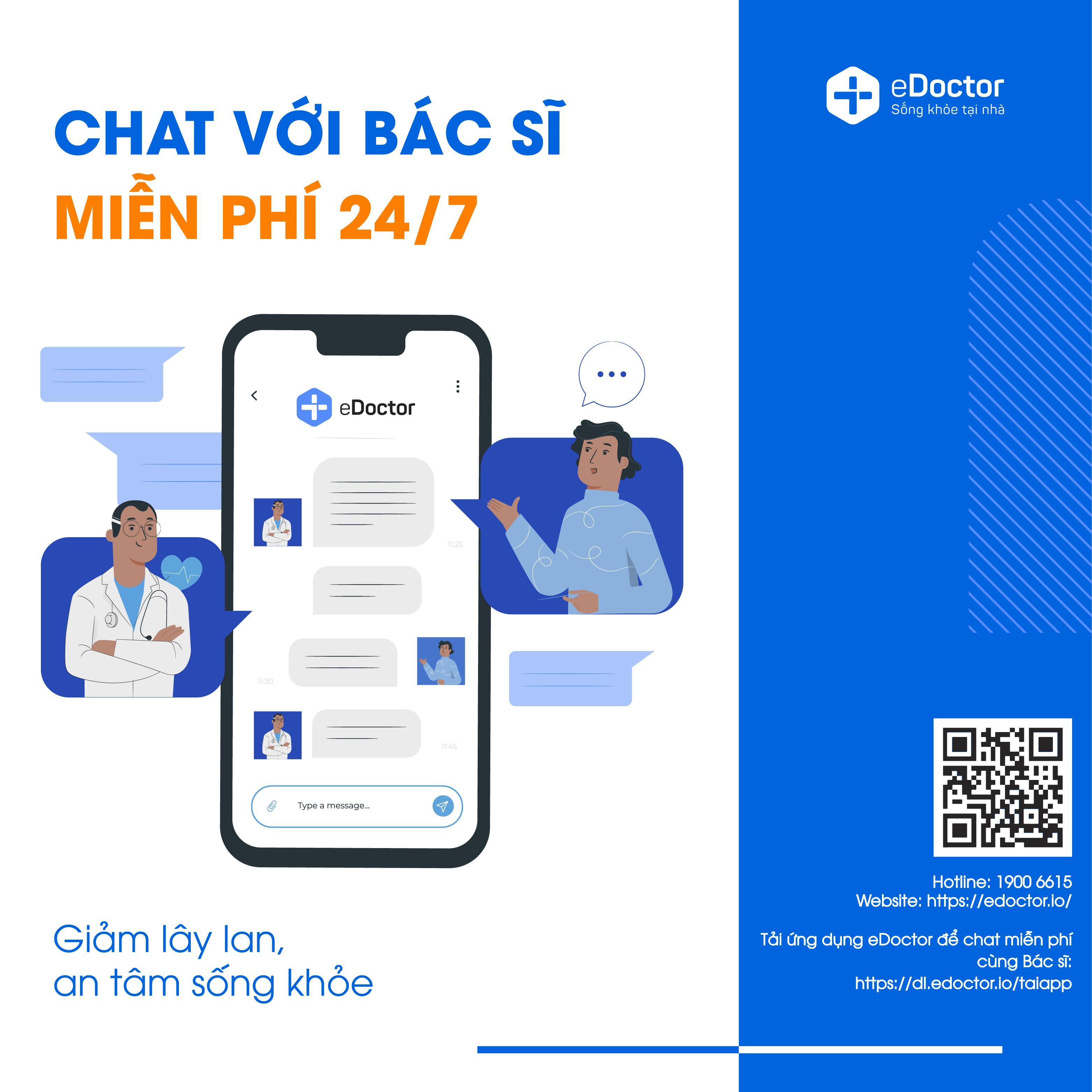 eDoctor - Chat miễn phí 24/7 với Bác sĩ : Giảm lây lan, an tâm sống khỏe
