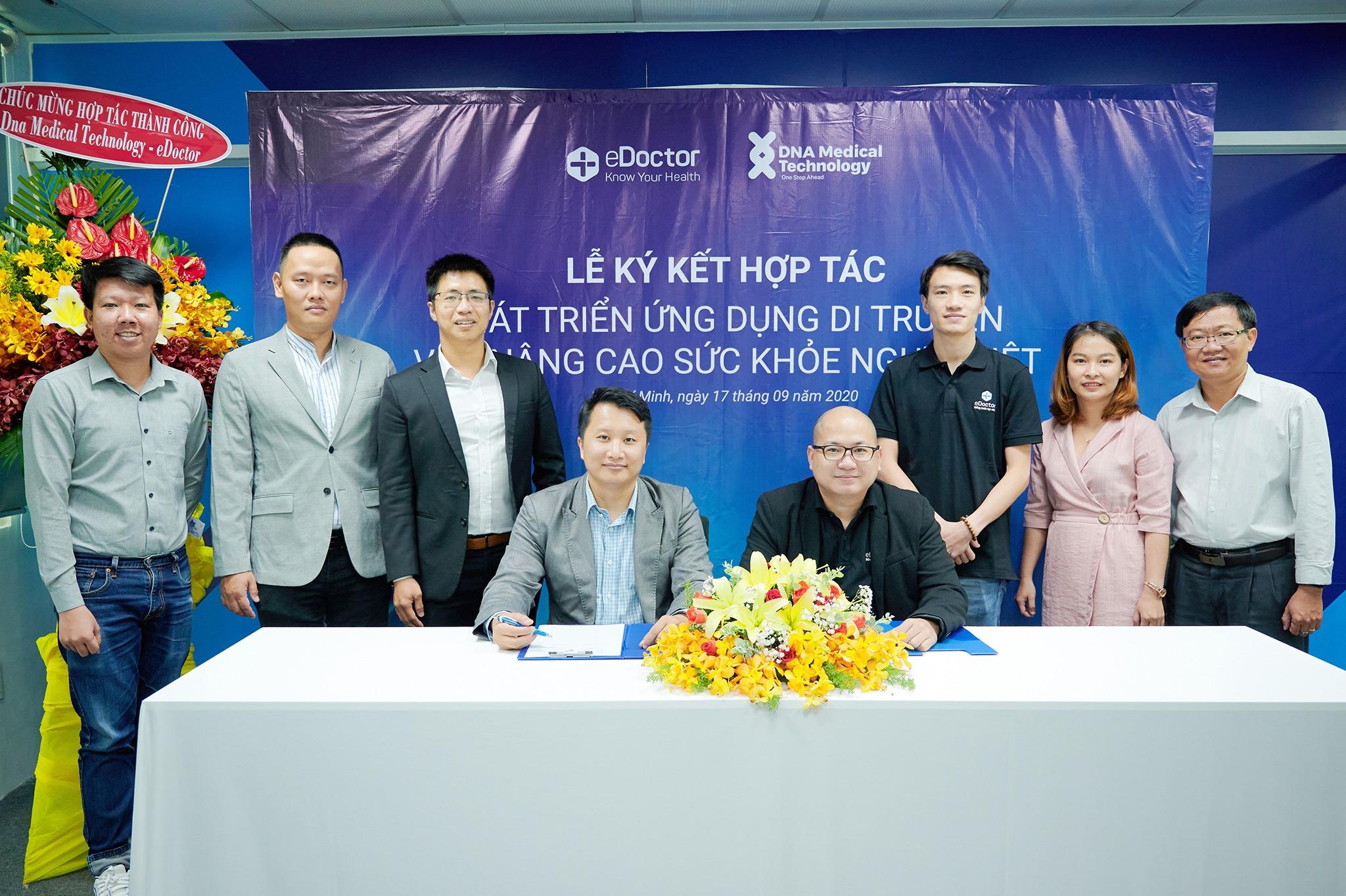 eDoctor và DNA Medical Technology hợp tác nâng cao sức khỏe người Việt Nam